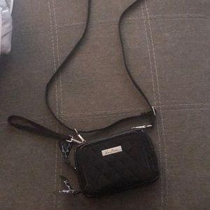 Vera Bradley black wallet satchel